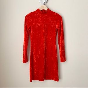 NWT Urban Outfitters Ice Crusher Red Velvet Dress